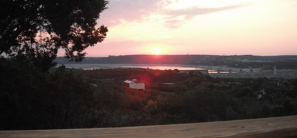 Sunrise over Lake Travis