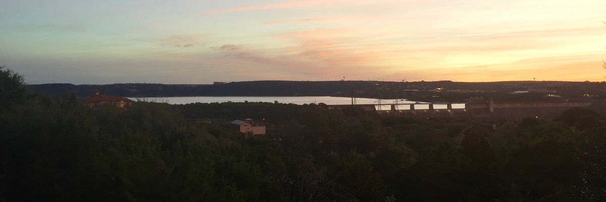 Sunrise over Lake Travis from your veranda