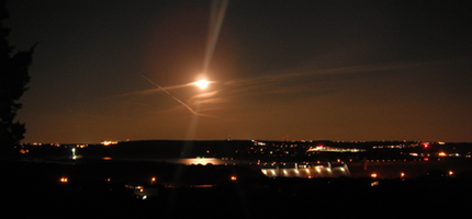 Moonrise over Lake Travis